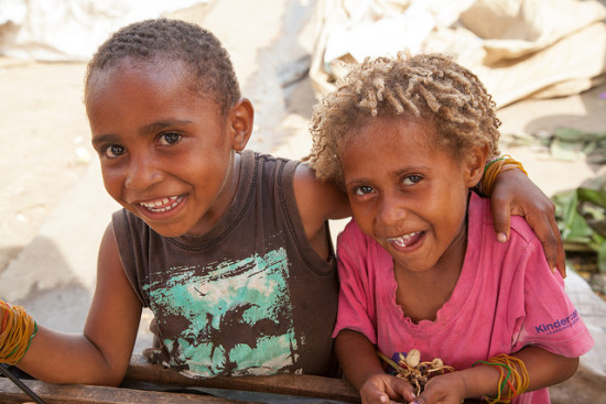 Children from Papua New Guinea.