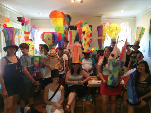 August 2014 Lantern making workshop at Lantern House